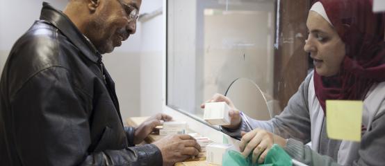 Mohamed recoge sus medicinas en Damasco